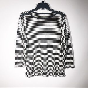 "J Crew | ""Perfect Fit"" Striped 3/4 Sleeve Tee"